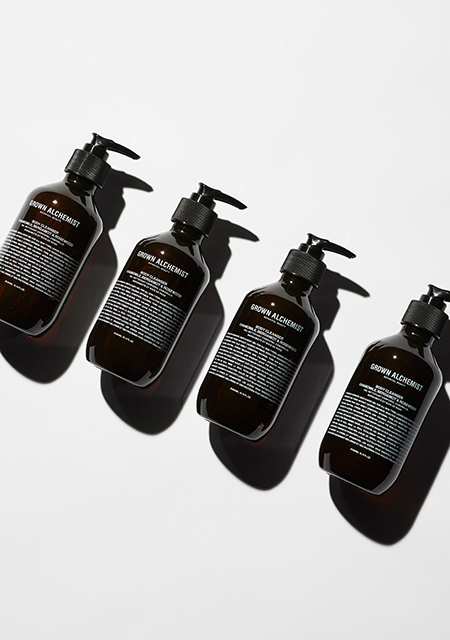 Bottles of Grown Alchemist toiletries