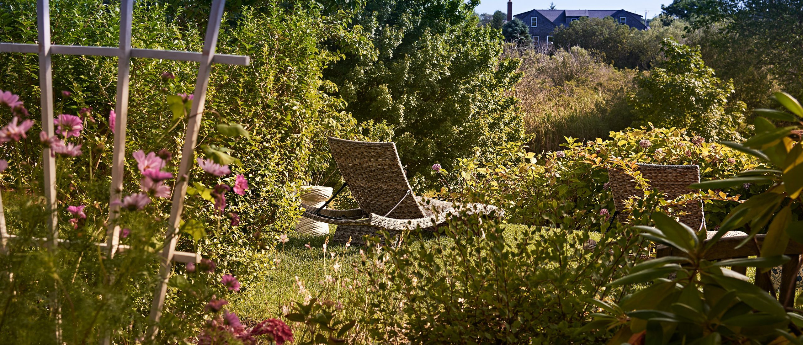Lounge chair in the garden