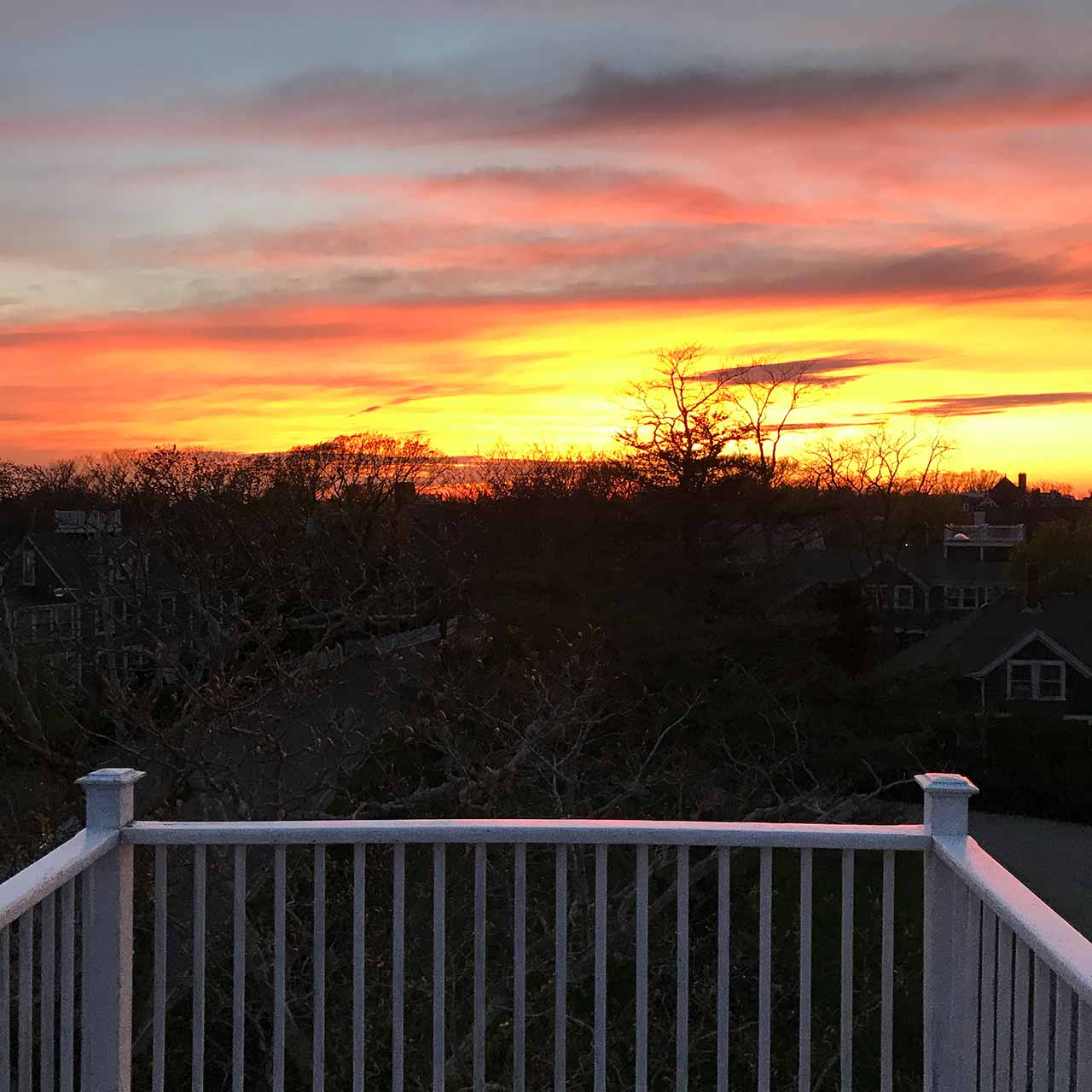 Sunset at the cliff lodge in nantucket